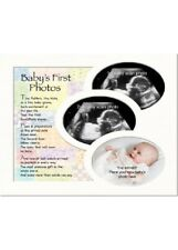 Memory Mount Baby Scan Boys Girls Sentiment Words Gift 1st & 2nd Scan +1st Photo
