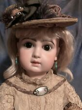 """INCREDIBLE 22"""" Jumeau DEPOSE Bebe Doll With Original Box, Shoes Wig ANTIQUE Dres"""
