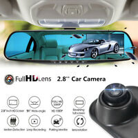1080P HD Car DVR Rearview Mirror Dash Cam Camera Video Recorder Motion Detection