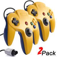 2 x Wired Analog Retro Classic Gamepad Controller Joystick For Nintendo 64 N64