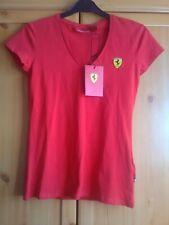 Farrari  -  Red Ladies V- Neck T-Shirt -  Farrari Badge design -  Size 8  -  NEW