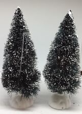 Lot Of 2 Christmas Village Accessories Trees Pine Plants Snow