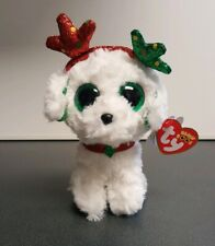 Ty Beanie Boos - SUGAR the Christmas Dog (6 Inch) 2019 NEW  ~ IN HAND
