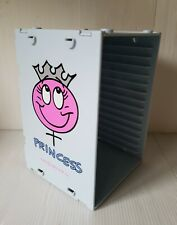 "Pale Blue & Pink Plastic ""PRINCESS"" CD Storage Holder Rack Stand - Holds 15 CDs"
