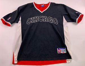 CHICAGO BULLS LARGE SHOOTING SHIRT VTG RETRO VTG 90's NBA BASKETBALL Champion