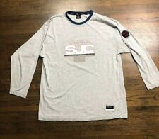 Sean John Collection 69 Gray Long Sleeve Tee T-shirt Size XL Vintage Rare VTG