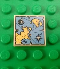 *NEW* Lego Treasure Map 2x2 Stud Tile Plate Pirates Minifigs Figs x 1 piece