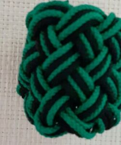 4 STRANDS TURKS HEAD KNOT by RODTEK (GREEN,BLACK,GREEN)