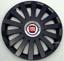 "Full set black gloss 14"" wheel trims to fit FIAT 500"