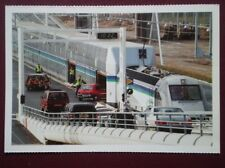 POSTCARD LE SHUTTLE - CARS BEING LOADED ON TO DOUBLE DECK TRAIN