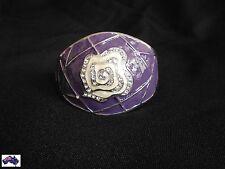 Womens Cuff Bracelet Purple Rhinestone