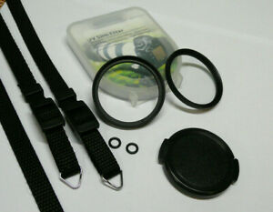 Olympus Trip 35 Accessory Set - Step Up Ring, Lens Cap, UV Filter, Neck Strap