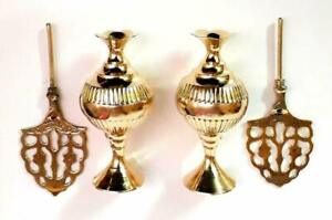 S.S TRADERS Yellow Brass Surmedaani with Unique and Attractive Look Set of 2