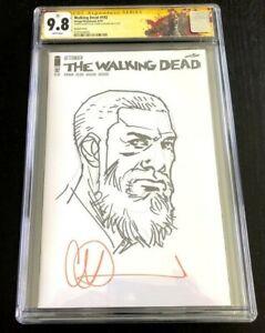 Walking Dead #192 CGC 9.8 SS 1st ever Charlie Adlard Sketch Death of Rick Grimes