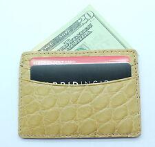 Tan Beige Matte Genuine American Alligator 5 Pocket Card Case MADE IN USA NWOT