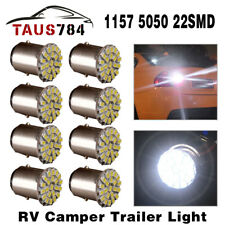 8x Super Bright White 1157 BAY15D  Car Tail Stop Brake Light 22 SMD LED Bulb 12V
