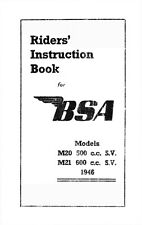 (0277) 1946 BSA M20 M21 instruction book