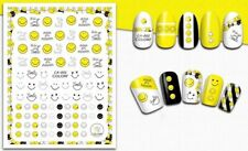 Nail Art 3D Decal Stickers Emoji Smiley Wake Up and Smile CA002