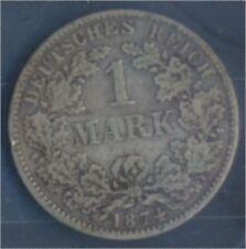 alemán Imperio Jägernr: 9 1874 e muy ya Plata 1874 1 marcos pequeños águ(7849051