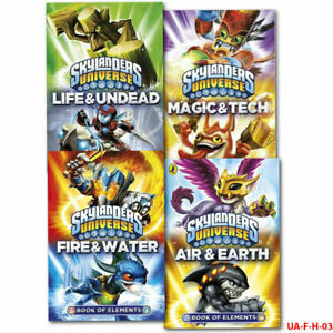 Skylanders Universe 4 Book Collection Set Books of Elements Collection PB NEW