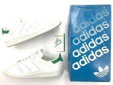 Vintage Men Adidas Stan Smith Originals Leather white green size 10.5 shoes.