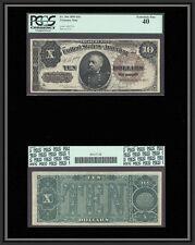 Tt Fr 366 1890 $10 Treasury Note Scarce And Popular Fancy Back Pcgs 40