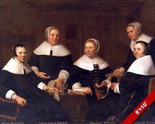 17TH CENTURY NETHERLANDS DUTCH WOMEN PAINTING HISTORY ART REAL CANVAS PRINT