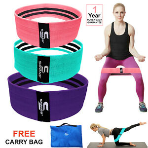 SAWANS® Resistance Bands Booty Fabric Glutes Hip Circle Legs Squat Yoga Non Slip
