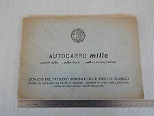 STRALCIO CATALOGO RICAMBI ORIGINALE 1961 ALFA ROMEO MILLE CAMION