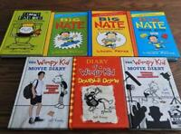Lot of 7 Children's Books - BIG NATE - WIMPY KID - TIMMY FAILURE