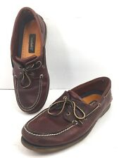 Timberland 25077 Men's 13M Boat Deck Shoe Rootbeer Two Eye Leather Brown