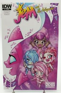Jem & the Holograms #1 RE ECCC Emerald 2015 Convention Variant Cover IDW Comic