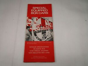 Vtg Original 1970 Santa Fe Railroad Special Equipped Box Cars Pamphlet