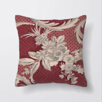 Red Pattern Cushion Covers Pillow Cases Home Decor or Inner