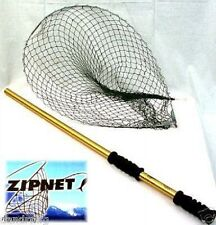 NEW ZIPNET GREEN BEST COMPACT FISHING BOAT NET 40LB FISH CAPACITY COLLAPISBLE