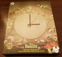 Disney D23 Expo Exclusive: Bambi Wall Clock 75th Anniversary Limited Edition 500