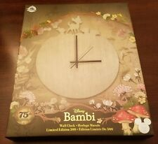 Disney D23 Expo 2017 Exclusive: Bambi Wall Clock 75th Anniversary LE 500 NEW!