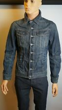 Vintage River Island Denim Jacket Men's Stylish Special Edition Decorated Great
