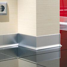 2,5m Bodenleisten silber eloxiert 59mm Sockelleisten ALU Aluminium Bodenleisten