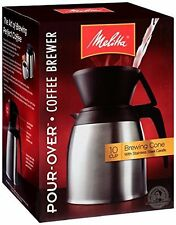 Coffee Maker Stainless Thermal Carafe 10 Cup Pour over Brewer Ideal for Home