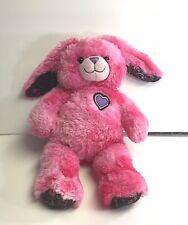 "Build a Bear Hot Pink Heart Bunny Rabbit 17"" Plus Long Ears Easter Purple 💜 BFF"