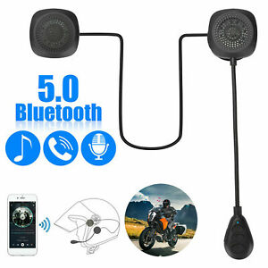 Motorcycle Helmet Wireless Headset  Bluetooth 5.0 Headphone Speaker Hands-Free