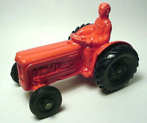 Vintage Tomte Laredal Norwegian Red Toy Farm Tractor...Excellent Condition