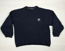 Vintage Adidas Sweatshirt Navy Blue 44/46 Mens L / XL 80s D8 F192