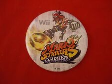Mario Strikers Charged Nintendo Wii Promotional Button Pin Back Promo