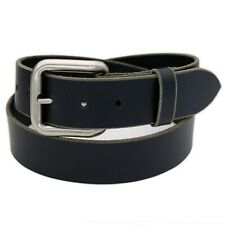 "1-1/2"" SOLID BUFFALO LEATHER CASUAL HEAVY DUTY BUCKLE BELT USA, Amish Quality"
