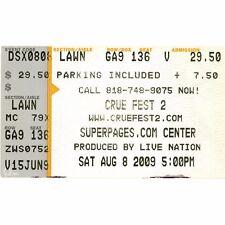 MOTLEY CRUE & GODSMACK & DROWNING POOL Concert Ticket Stub DALLAS TX 8/8/09 Rare