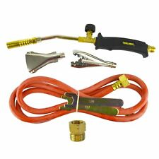 Gas Torch Burner 2m Hose Regulator Roofer Plumber Weed Kit Propane