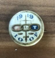 Vintage Odd Fellows Pin IOOF 1919 Authentic Antique Fraternal Order Philadelphia