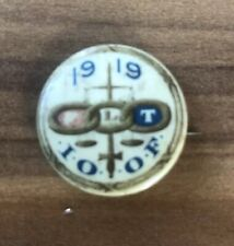 Odd Fellows Pin IOOF 1919 Authentic Antique Fraternal Order Philadelphia